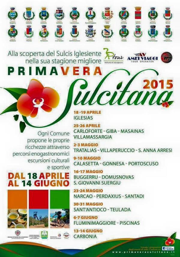Il programma della Primavera Sulcitana 2015